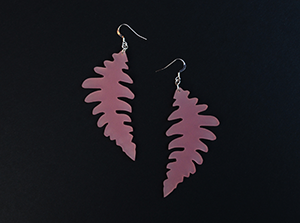 fern_earrings_pink_front_engstromdesign